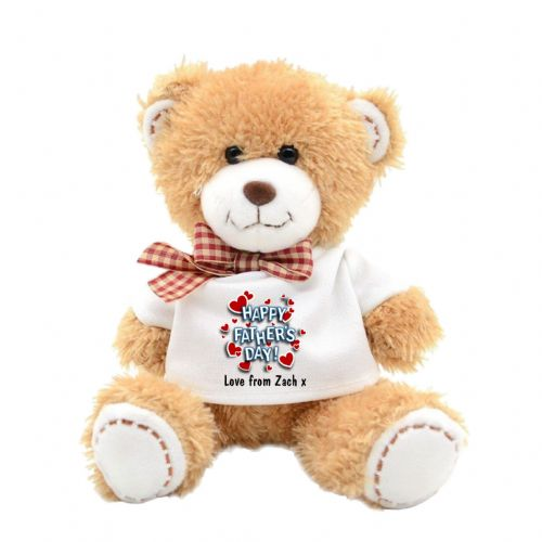 Personalised Happy Fathers Day Plush Teddy Bear N4